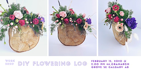 DIY: Flowering Log tickets