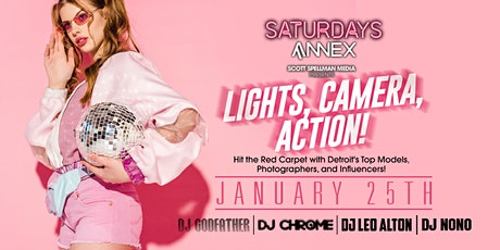 Lights, Camera, Action at The Annex on Saturday, January 25th! tickets
