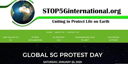 Stop 5G Vigil in Market Square, Kingston