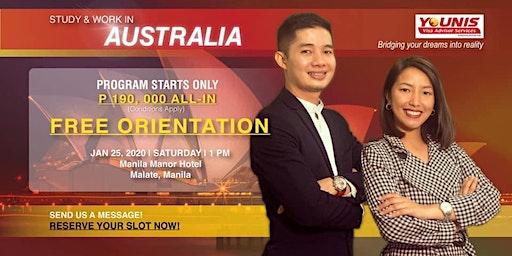 YOUNIS VISA ADVISOR SERVICE Study and Work in Australia Orientation