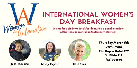 WinA International Women's Day Breakfast tickets
