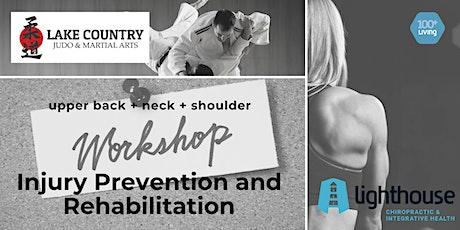 Injury Prevention and Rehabilitation:  Neck, Upper Back & Shoulder tickets