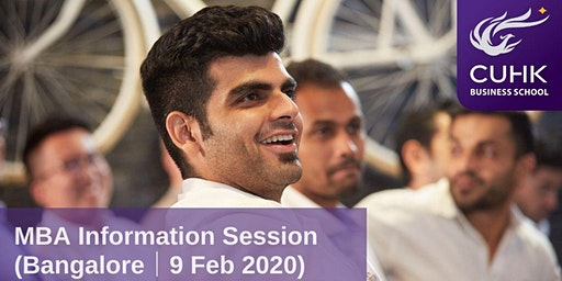 CUHK MBA Information Session in Bangalore
