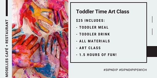 CANCELLED - Toddler Time Art Class @ Moselles