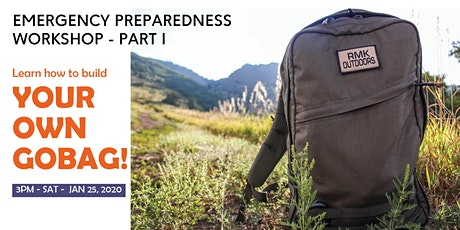 Learn how to build your own GoBag - Emergency preparedness workshop part I tickets