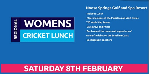 Sunshine Coast Region Women's Cricket Lunch