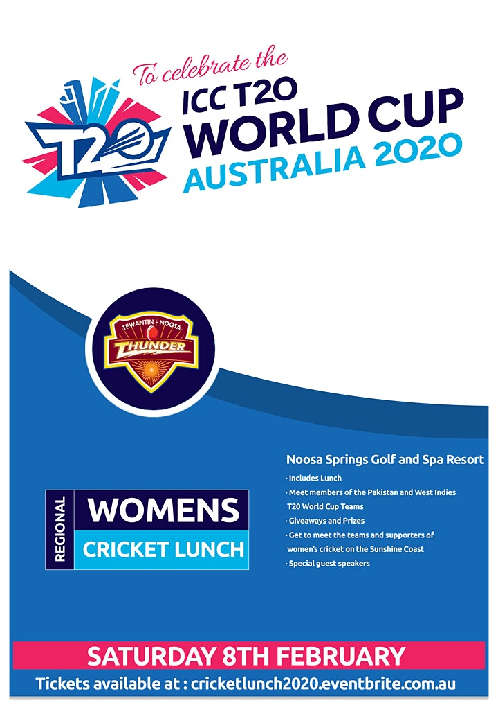 Sunshine Coast Region Women's Cricket Lunch image
