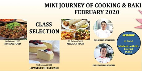 Mini Journey of Cooking & Baking tickets