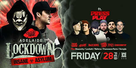 Cloud Nine Adelaide . Lockdown's Insane Asylum tickets