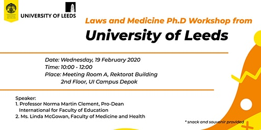 Laws and Medicine Ph.D Workshop from University of Leeds