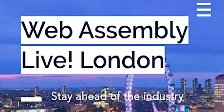 WebAssembly Live! London tickets