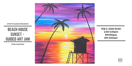 Tipsy Painting - Beach House Sunset tickets
