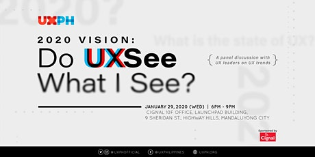 2020 Vision: Do UXSee What I See tickets