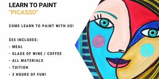 Grab a glass of wine and learn to paint 'Picasso'!