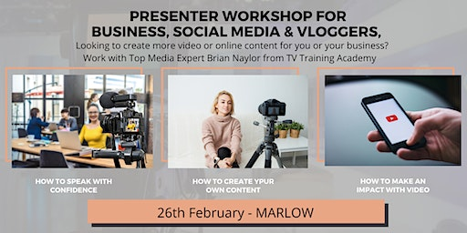 Presenting Workshop For Business, Social Media & Vloggers