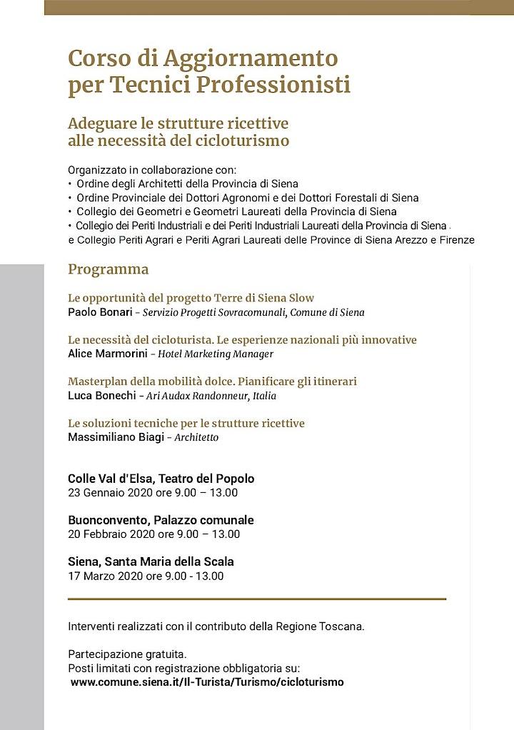 Cicloturismo nelle Terre di Siena - Formazione per Tecnici Professionisti image