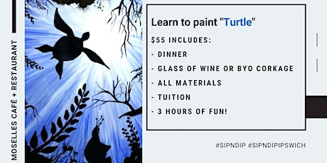 Grab a glass of wine and learn how to paint 'Turtl tickets