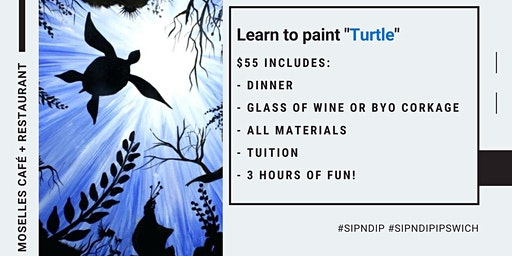 Grab a glass of wine and learn how to paint 'Turtle'!