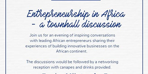 Entrepreneurship in Africa - a townhall discussion