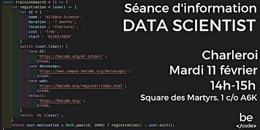 Séance d'information-Data Scientist-Charleroi