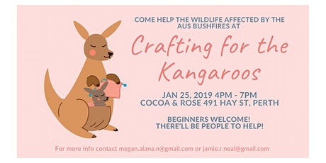 Crafting for the Kangaroos (and birds and possums and koalas)  tickets