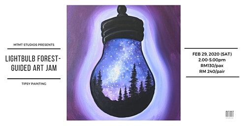 Tipsy Painting - Lightbulb Forest