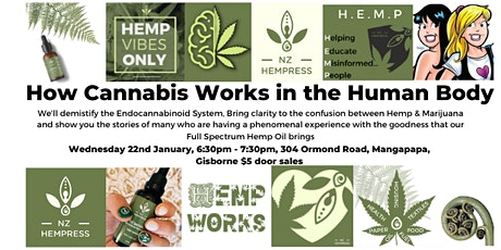 How Cannabis Works In The Human Body Gisborne tickets