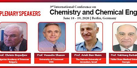 Chemistry and Chemical Engineering(3rd Global Summit) Tickets