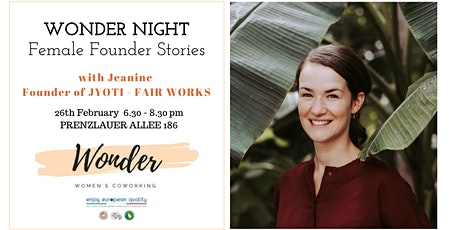 WONDER NIGHT - Female Founder Stories Tickets
