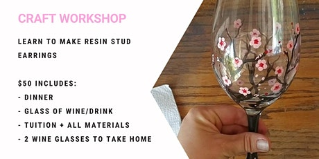 Grab a glass of wine and learn to paint Cherry Blossom wine glasses! tickets