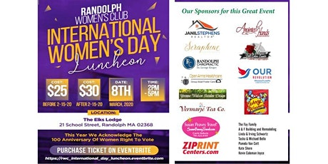 Randolph Women's Club International Luncheon tickets