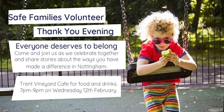 Safe Families Nottingham thank you event tickets