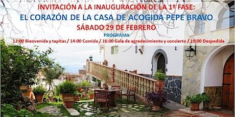 Inauguración Casa de Acogida Pepe Bravo (Fase 1ª) entradas