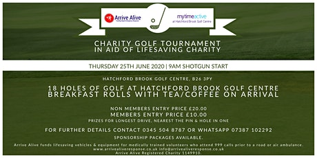Charity Golf Tournament in aid of Arrive Alive tickets