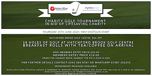 Charity Golf Tournament in aid of Arrive Alive