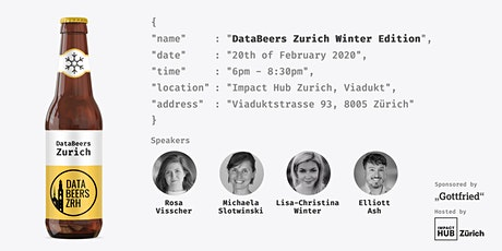 DataBeersZRH: Winter Edition tickets