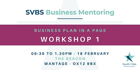 Business Plan on a Page - Workshop 1 Tickets