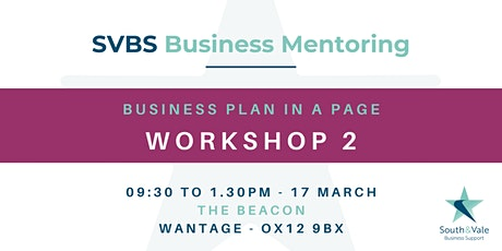 Business Plan on a Page - Workshop 2 tickets
