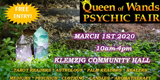 Queen of Wands Psychic Fair At Klemzig 01-03-2020