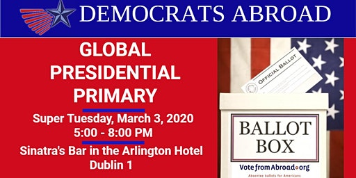 Vote in US Presidential Primary w Democrats Abroad