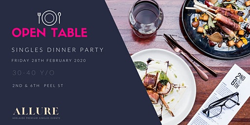 Open Table - Singles Dinner Party  for Food Lovers (Ages 30 to 40)