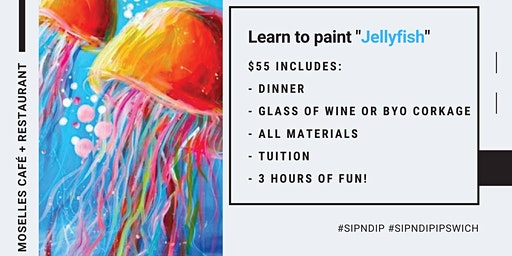 Grab a glass of wine and learn to paint 'Jellyfish'!