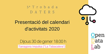 30/01 5ª Trobada Daters: Presentació del nou calendari d'activitats! entradas