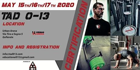 TAD 0-13 Certification biglietti