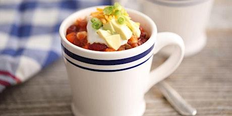 Chili in a Mug Recipe Session tickets
