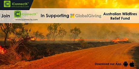 iConnectX Partnered with GlobalGiving for Australia WildFires tickets