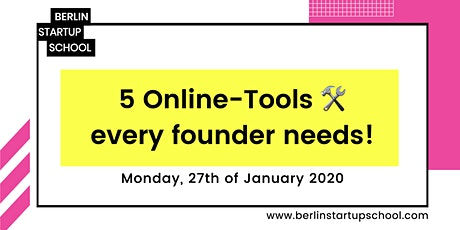 5 Online-Tools every founder needs! tickets