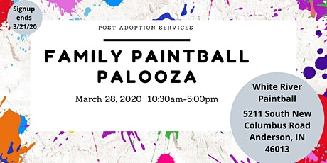 Post Adoption Services Family Event } PaintBall Palooza tickets