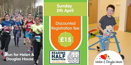 Reading Half Marathon 2020 Registration for Helen & Douglas House tickets
