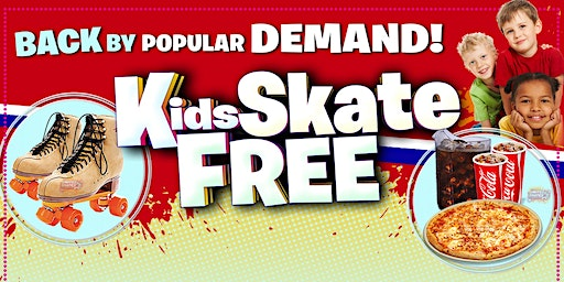 Kids Skate Wednesday 1/22/20 at 5:00pm (with this ticket)
